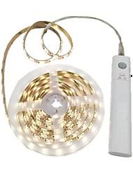 Недорогие -2м Гибкие светодиодные ленты 120 светодиоды 2835 SMD Тёплый белый / Белый Можно резать / Декоративная / Самоклеющиеся Аккумуляторы 1шт