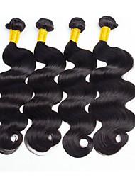 cheap -4 Bundles Malaysian Hair Wavy Human Hair Natural Color Hair Weaves / Hair Bulk / Human Hair Extensions 8-28 inch Natural Color Human Hair Weaves Capless Fashionable Design / Best Quality / Hot Sale
