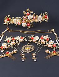Недорогие -Сплав Прически с Цветы 1 пару × 2 Свадьба Заставка