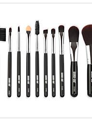 abordables -Paquet de 10 Pinceaux à maquillage Professionnel ensembles de brosses / Pinceau Fard à Paupières / Pinceau Eye-liner Fibre Nylon Doux / Couvrant Bois / bambou