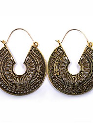 cheap -Women's Long Drop Earrings - Vintage, Ethnic, Fashion Gold / Black / Silver For Party / Evening / Daily