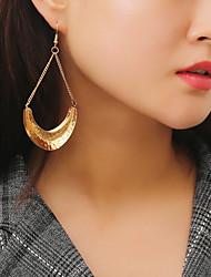 cheap -Women's Long Drop Earrings / Hoop Earrings - Stylish, Simple, Trendy Gold / Silver For Gift / Daily