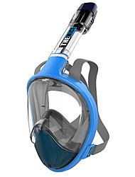 baratos -Máscaras de mergulho Anti-Nevoeiro, Máscaras Faciais, 180 Graus Janela Única - Snorkeling para Adulto Amarelo / Fúcsia / Azul