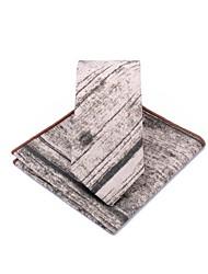 abordables -Unisex Corbata - Fiesta / Trabajo Bloques Negro y gris
