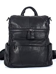 Недорогие -Универсальные Мешки Кожа рюкзак Молнии Черный