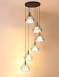 cheap -6-Light Mini Pendant Light Ambient Light - Mini Style, New Design, Extended, 110-120V / 220-240V Bulb Not Included