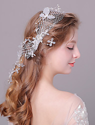 cheap -Pearl / Lace Head Chain / Hair Accessory with Lace-trimmed bottom / Floral 1 Piece Wedding / Special Occasion Headpiece