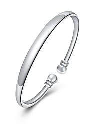 abordables -Femme Cristal Manchettes Bracelets - Plaqué argent Doux, Mode Bracelet Argent Pour Quotidien / Formel