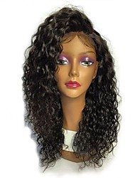 cheap -Remy Human Hair Full Lace Wig Brazilian Hair Curly Layered Haircut 130% Density With Baby Hair / Natural Hairline / 100% Hand Tied Black Women's Short / Long / Mid Length Human Hair Lace Wig