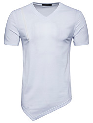 cheap -Men's Basic T-shirt - Solid Colored