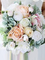 abordables -Fleurs artificielles 1 Une succursale Classique Fête / Soirée / Moderne / Contemporain Roses Corbeille Fleur