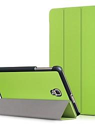 Недорогие -Кейс для Назначение SSamsung Galaxy Tab A 8.0 (2017) со стендом / Флип Чехол Однотонный Твердый Кожа PU