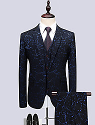 cheap -Men's Party Business Formal Suits-Geometric Notch Lapel / Long Sleeve