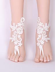 Недорогие -Украшения на ноги - Кружево Цветы Классика, Мода Белый Назначение Свадьба Бикини Жен.