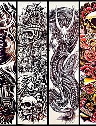 abordables -4 pcs Tatouages Autocollants Tatouages temporaires Séries de totem Arts du Corps bras