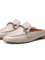 baratos -Mulheres Sapatos Pele Napa Primavera Conforto Mocassins e Slip-Ons Salto Baixo Vermelho / Azul / Amêndoa / Festas & Noite