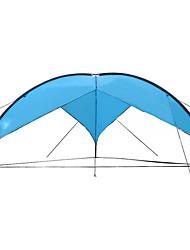 abordables -7 persona Refugio y Toldo de Camping / Tienda de playa Palo Domótica Carpa para camping Al aire libre Impermeable, Snowproof, Protección UV para Lona 480*480*200 cm