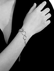 cheap -Women's Single Strand Link Bracelet - Stylish, Trendy, Elegant Bracelet Gold / Silver For Gift / Daily
