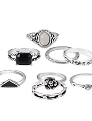 cheap -Men's Rope / Stackable Band Ring / Rings Set - Classic Lolita, Punk Lolita, Country Lolita Silver For Party / Halloween