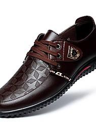 Недорогие -Муж. Лакированная кожа Весна Удобная обувь Туфли на шнуровке Черный / Коричневый / Синий / Для вечеринки / ужина
