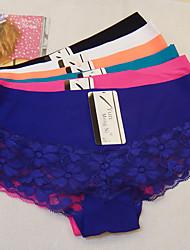 cheap -Women's Shorties & Boyshorts Panties - Print, Embroidered Low Waist / Sexy
