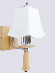 economico -Fantastico Moderno / Contemporaneo Lampade da parete Camera da letto / Bagno Legno / bambù Luce a muro 220-240V 40 W