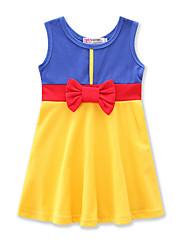 Недорогие -Дети (1-4 лет) Девочки Контрастных цветов Без рукавов Платье