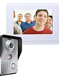economico -MOUNTAINONE SY819MKW11 7 Inch Video Door Phone 7 pollice Sistema Hands-Free 700 TV Line One to One video citofono