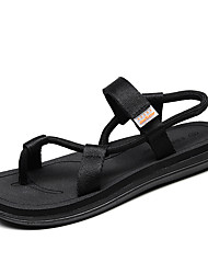 cheap -Men's Novelty Shoes Nappa Leather Summer Sandals Black / Brown