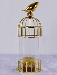 baratos -Moderno / Contemporâneo vidro / Ferro Suporte de Vela Castiçal 1pç, Candle / Candle Holder