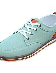 cheap -Men's Canvas Summer Comfort Sneakers Gray / Green / Light Blue