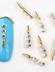 abordables -10 pcs Coque ornée de Diamant / Strass Bijoux à ongles / Bijoux d'art d'ongle Design Tendance Nail Art Design
