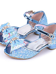 cheap -Girls' Shoes Sparkling Glitter Spring / Summer Comfort / Novelty / Flower Girl Shoes Sandals Bowknot / Buckle for Silver / Blue / Pink / Peep Toe / Wedding