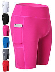 cheap -Women's Pocket Yoga Shorts - Blue, Pink, Grey Sports Shorts Running, Fitness, Gym Activewear Quick Dry, Breathable, Sweat-wicking Stretchy