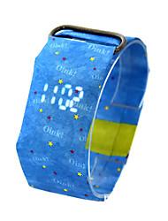 Недорогие -Муж. электронные часы Новый дизайн / Cool Прочее Группа На каждый день / Мода Черный / Белый / Синий