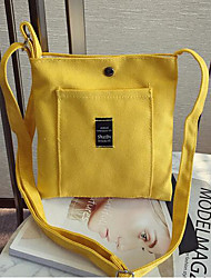 abordables -Mujer Bolsos Lona Bolsa de hombro Apliques Rosa / Gris / Amarillo