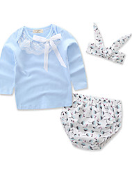 cheap -Baby Girls' Floral / Print Long Sleeve Clothing Set