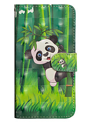 baratos -Capinha Para Sony Xperia XA2 Ultra / Xperia XA1 Ultra Carteira / Porta-Cartão / Com Suporte Capa Proteção Completa Panda Rígida PU Leather para Xperia XZ2 / Xperia XZ2 Compact / Xperia XA2 Ultra