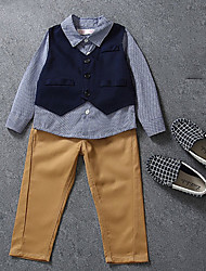 cheap -Baby Boys' Check Long Sleeve Clothing Set