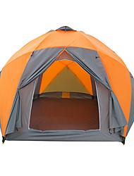Недорогие -8 человек Двухслойные зонты Карниза Сферическая Палатка Двухкомнатная  на открытом воздухе Дожденепроницаемый 2000-3000 mm  для Пешеходный туризм Фиберглас 380*330*195 cm / Водонепроницаемость