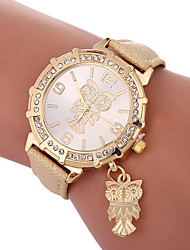 cheap -Xu™ Women's Dress Watch Wrist Watch Quartz Creative Casual Watch Lovely PU Band Analog Fashion Elegant Black / White / Blue - Green Blue Golden One Year Battery Life / Imitation Diamond / Large Dial
