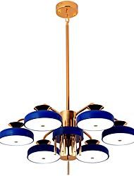 abordables -ZHISHU 6 lumières Nouveauté Lustre Lumière dirigée vers le bas - Style mini, 110-120V / 220-240V Ampoule incluse
