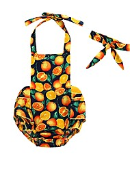 cheap -2pcs Baby Girls' Print Sleeveless Bodysuit