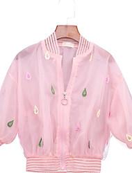 preiswerte -Kinder Mädchen Blumen Langarm Jacke & Mantel