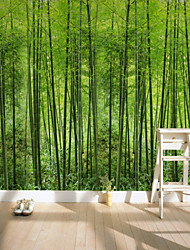 Недорогие -зеленый бамбуковый кислородный бар карта индивидуальные обои 3d настенные обои, подходящие для офиса спальня кухня