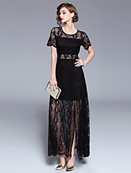 cheap -SHIHUATANG Women's Vintage / Sophisticated Swing Dress - Solid Colored Lace / Split