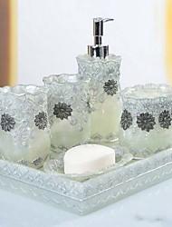 Недорогие -Набор аксессуаров для ванной Новый дизайн / Очаровательный Modern Резина 6шт - Ванная комната Односпальный комплект (Ш 150 x Д 200 см)