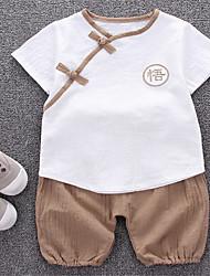 お買い得  -赤ちゃん 男の子 ソリッド 半袖 アンサンブル