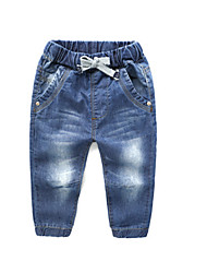 cheap -Kids Boys' Basic Solid Colored Lace up Cotton Jeans