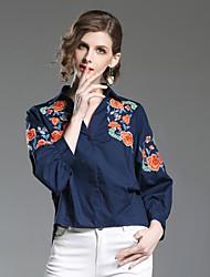 economico -Camicia Per donna Moda città Fantasia floreale